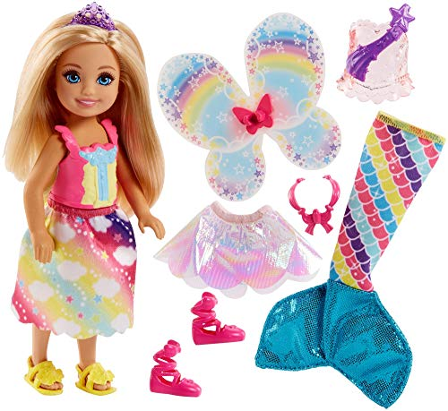 (Barbie Dreamtopia Rainbow Cove Chelsea Doll And Fashions Set, Blonde)