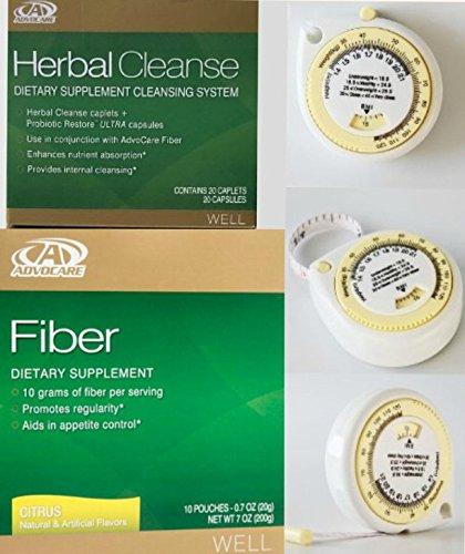 Advocare Herbal Cleanse & Citrus Fiber Kit + BMI Calculator.>Herbal Cleanse 20 Capsules & Fiber 10 Pouches by AdvoCare