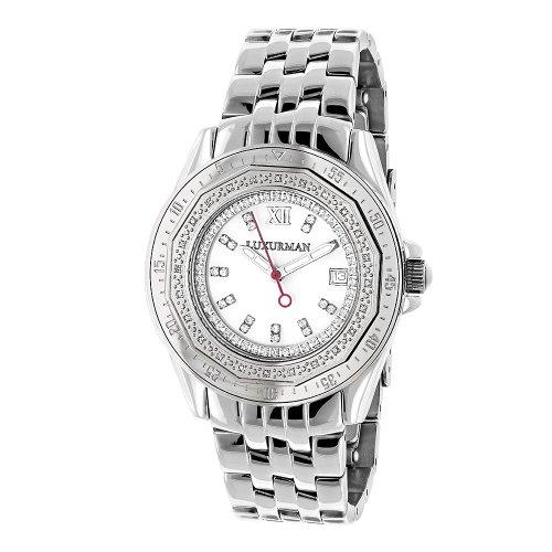 (Ladies Diamond Watch 0.25ct By LUXURMAN White MOP)
