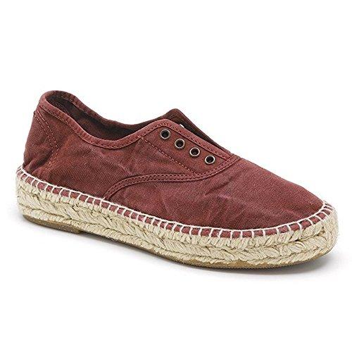 Noir Sneakers Tissu 687E Natural World Rouge qRfwxtH6