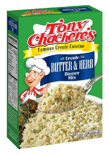 Tony Chacheres Creole Butter and Herb Rice Mix, 7 Ounce - 12 per case. by Tony Chachere's