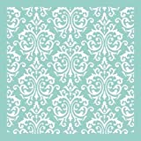 Kaisercraft T602 Scrapbooking Template, 12 by 12-Inch, Damask