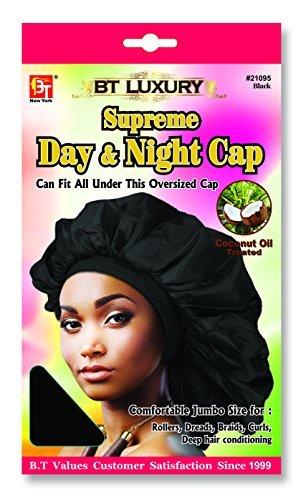 (Beauty Town Day & Night Cap (Jumbo Size) Black)