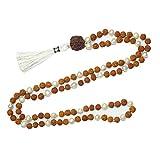 Tibetan Healing Mala Beads 108 Japamala Rudraksha Pearl Tibet Buddhist Prayer Mala