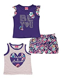 "Angel Face Baby Girls' ""Love & Dreams"" 3-Piece Outfit"