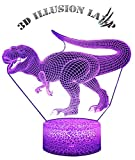 CIDEARY Dinosaur Night Light, 3D Dinosaur Lamp 7 Colors Optical Illusion Touch Remote Control with Acrylic Flats Best Christmas Birthday New Year Gifts for Boys Girls Kids Baby (Megalosaurus)
