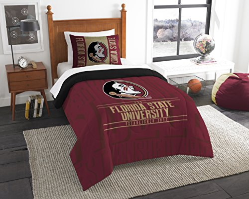 State Florida Bed (The Northwest Company Officially Licensed NCAA Florida State Seminoles Modern Take Twin Comforter and Sham)