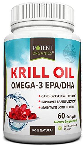 Prime Krill NKO - complément alimentaire - oméga 3 EPA/DHA - Burpless à saveur de citron - mieux pour cardiovasculaire et les articulations Santé - 60 capsules Softgel