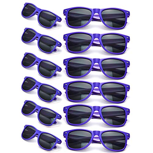 12 Packs Man Women Retro Wholesales Neon Party Favor Sunglasses Accessories]()