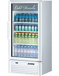 Turbo Air TGM-10SD Glass Swing Door One Section Reach-In Merchandiser Refrigerator