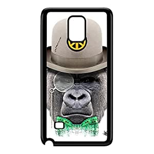 Monkey with Hat Black Hard Plastic Case for Galaxy Note 4 by Gangtoyz + FREE Crystal Clear Screen Protector