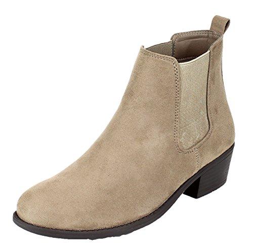 (Refresh Women's Tildon-03 Ankle Boot, Taupe 10 B(M) US)