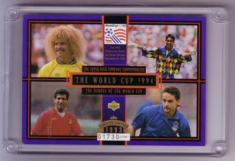 Upper Deck 1994 World Cup Draw Soccer Card Set