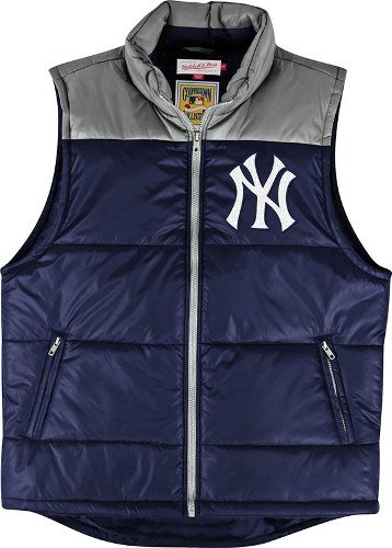 (New York Yankees Mitchell & Ness MLB Winning Team Throwback Snap Vest Jacket)