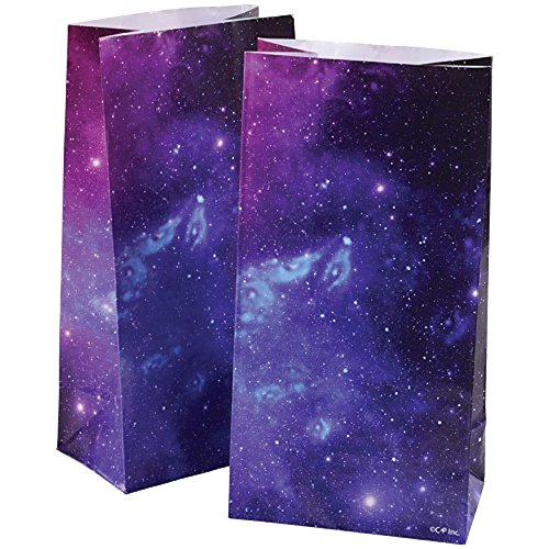 2 Dozen (24) OUTER Space Paper GOODY BAGS -GALAXY Planets - Science SOLAR SYSTEM Classroom PARTY FAVORS -