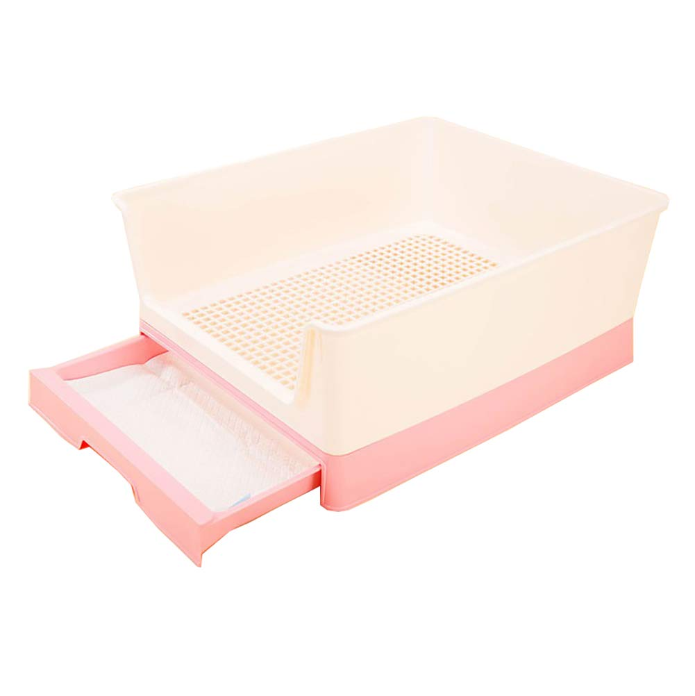 Pink Dog Toilet, Pet Supplies Grid Dog Potty, Puppy Cat Pet Training Mat Potty, Easy to Clean and Hygienic,Sterile,Tasteless and Corrosion Resistant,color Optional