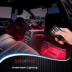 BRITENWAY Car Interior Lights Gadget – 7 Colors and Multiple Pattern for Front & Back Underdash Decoration Lighting Accessories 12v Music Rhythm & Sound Activation Function