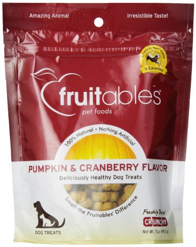 Fruitables Pumpkin & Cranberry Crunchy Dog Treats 1-7 ounce Pouch