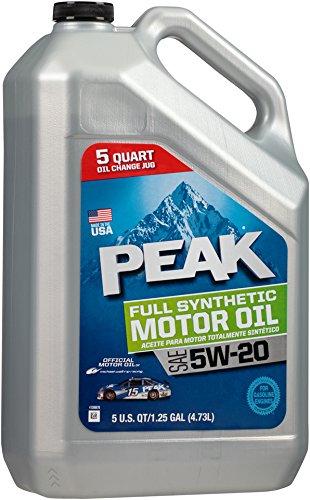 () 5W-20 Synthetic Motor Oil - 5 Quart Jug - Peak P2MS55