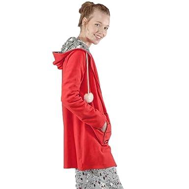 GISELA Bata de Snoopy con Capucha 2/1550 - Rojo, XL: Amazon.es: Ropa y accesorios