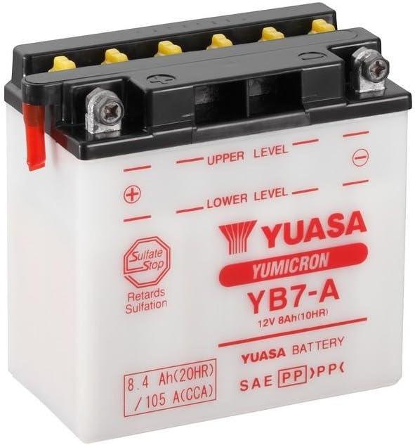 Batterie YUASA YB7-A f/ür Piaggio // Vespa PK125 XL2 Baujahr 1992 Ma/ße: 137x76x135 12V//8AH