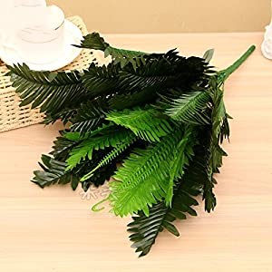 FYYDNZA 18/24 Branches Artificial Plant Simulation Home Decoration Fern Green Leaf Simulation,18 Branches 97