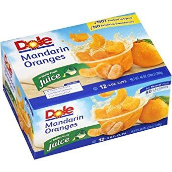 Mandarin Oranges Vitamin C - Dole Mandarin Oranges in 100% Juice, 4 Oz, 12 Count
