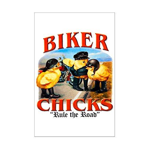 Mini Poster Print Biker Chicks Women Girls Rule ()