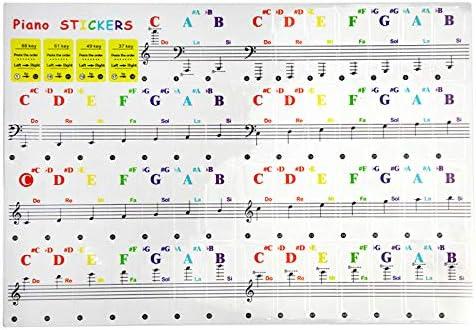 66/88 Calcomanías De Teclado Para Piano En Fazeer,guía Del ...