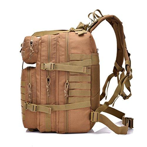 Entusiastas Carga Al Militar Desert Paquete Libre Aire 3p Hombres Mujeres Wolf Y De Digital Aumento Klerokoh Brown Bolso 900d Militares Hombro 40l color Táctico FaXRxXT