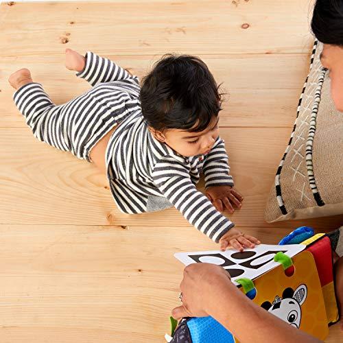 51QbdDO3syL - Baby Einstein Flip for Art High Contrast Floor Activity Mirror with Take Along Cards, Newborn+