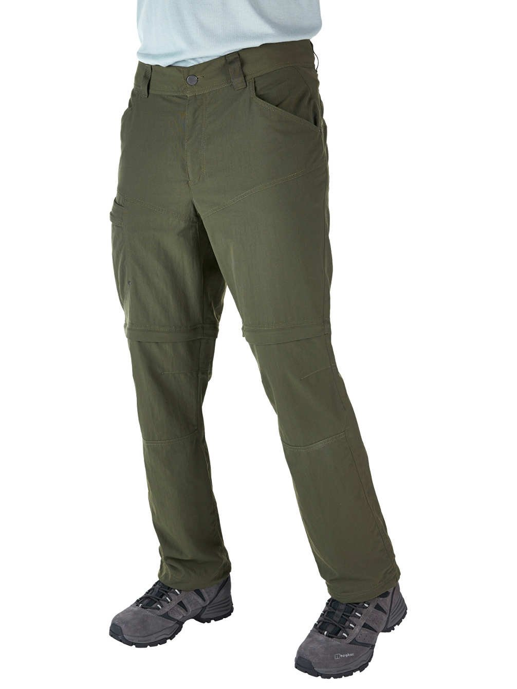 Berghaus Herren Wanderschuhe Explorer Eco Woven Pants mit abzipbaren Beinen