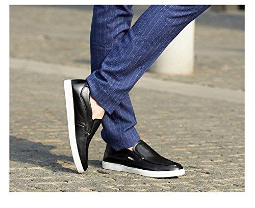 MUYII Hombres De Cuero Cuero Hombres Zapatos Para Para Deportivos Antideslizantes Hombre De Zapatos Zapatos Ocasionales Black Oxford Para Oxfords rPr0gw