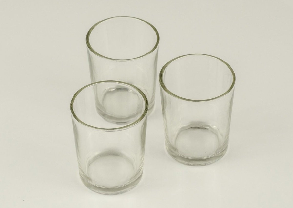 Candles4Less - 72 pieces Clear Glass Votive Holders. Perfect for Weddings and events