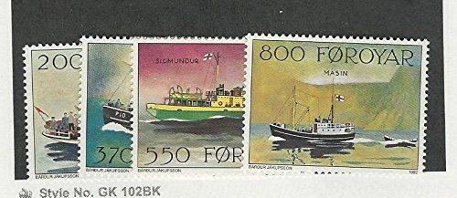 (Faroe Islands, Postage Stamp, 232-235 Mint NH, 1992 Ships)