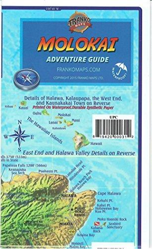 - Molokai Hawaii Adventure & Dive Guide Franko Maps Waterproof Map