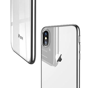 940f7bb0ec3 ESR Funda para iPhone XS/X, Funda Transparente Suave TPU Gel [Ultra Fina
