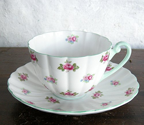Shelley Bone China Rosebud Cup And Saucer #13426