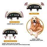 Bark Collar, Folksmate [2018 Upgrade Version] Dog Training Collar Upgrade 7 Sensitivity , USB Rechargeable Waterproof No Bark Collar with Vibration and No Harm Shock for Small Medium Large Dog