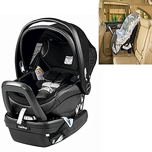 Peg Perego Primo Viaggio Nido Car Seat with Load Leg Base Licorice With Sunshade