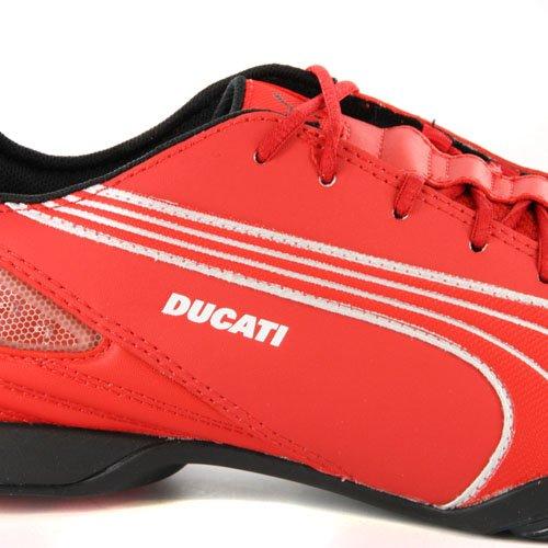 Herren Schuh Puma Evo Ducati Low Rot Leder Motorsport