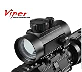 """Ultimate Arms Gear 1X30 Tactical CQB Dual Red & Green Reticle Dot Adjustable Brightness Weaver-Picatinny 7/8"""" Hunting Reflex Sight Scope, Ruger 10/22 10-22 Mini 14 SR556 SR22 Rifle"""