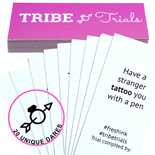 Tribe Trials Bachelorette Party Dare Game: Card Games for Brides | Maid of Honor and Bride Essentials | Girls Night Out, Bridal Shower, Hen, Doe Parties and Wedding Prep (Bachelorette Party Dares List For The Bride)