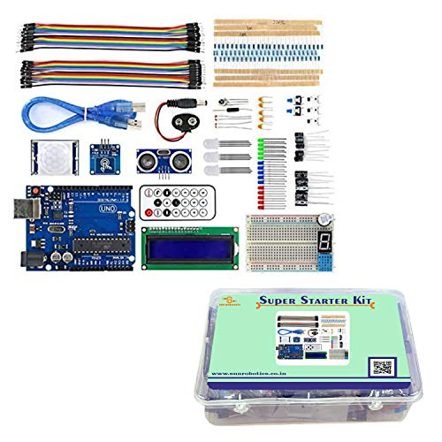 SunRobotics Arduino Uno Based Super Starter Kit with Full Learning Guide Including Codes and Tutorials Price & Reviews