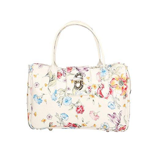 Cm Vera a Handbag Mano Borsa in in Donna 25x17x12 Italy Aren Fiori Made Pelle da f01nqOwx