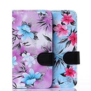 LIMME Floral Pattern PU Leather Cover with Card Slot Cover for iPhone 6 Plus(Assorted Colors) , Black