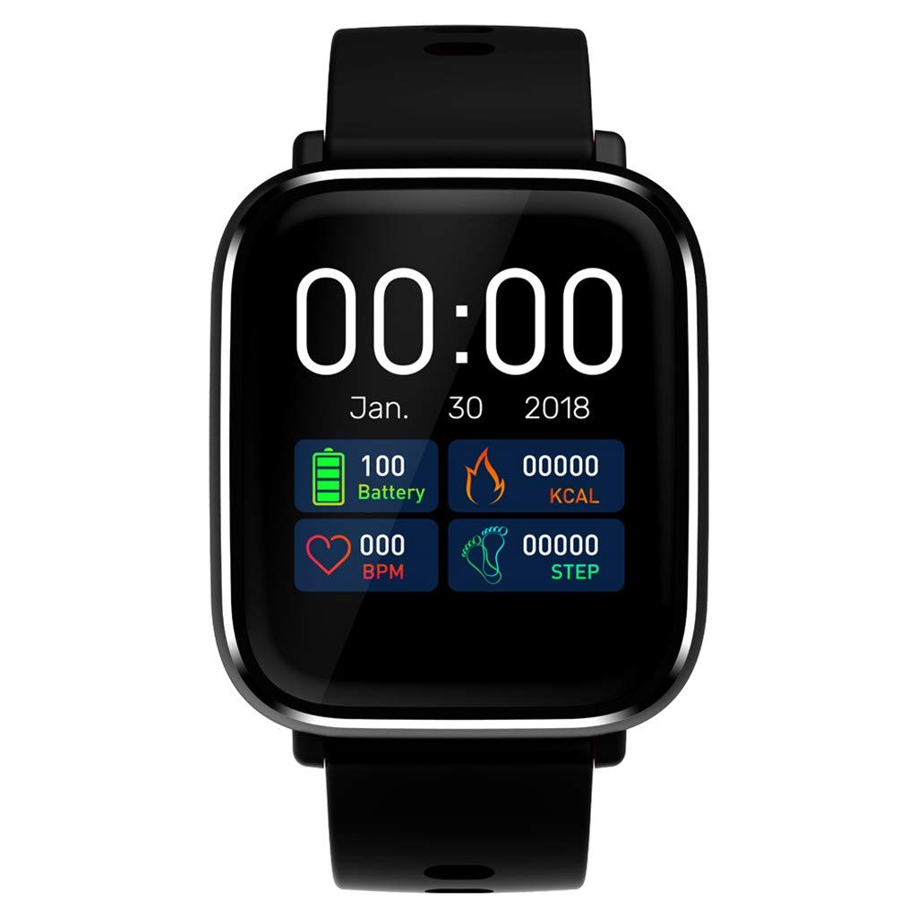 Berryhot Smart Watch Touch Screen Sports Smart Watch, Activity Health Tracker with Heart Rate Blood Pressure Monitor Calorie Counter Sleep Monitoring Compatible Android iPhone iOS (Gray)