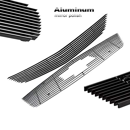2pcs Silver Aluminum Billet Grille Combo Grill Insert Fit 2014-2016 Chevy Impala ()