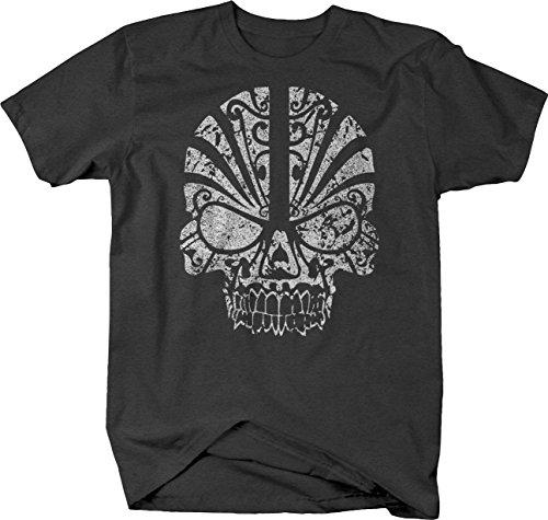 (Distressed - Tribal Skull Mask Tshirt - XLarge )