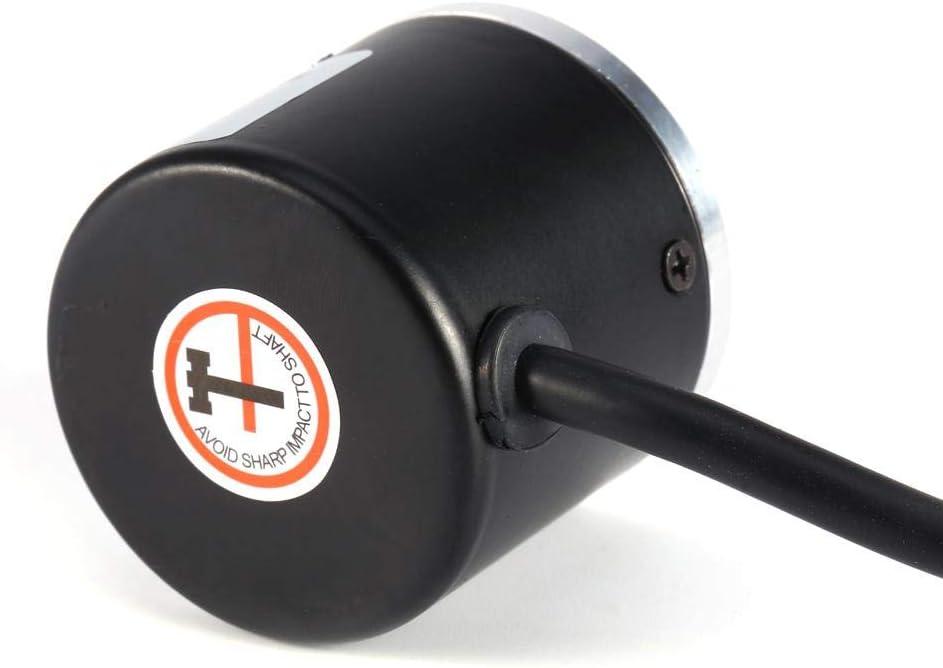 DeWin Encodeur Rotatif Encodeur Rotatif Optique 600P//R Encodeur Rotatif incr/émental photo/électrique 5V-24V AB Arbre 2 Phases 6mm